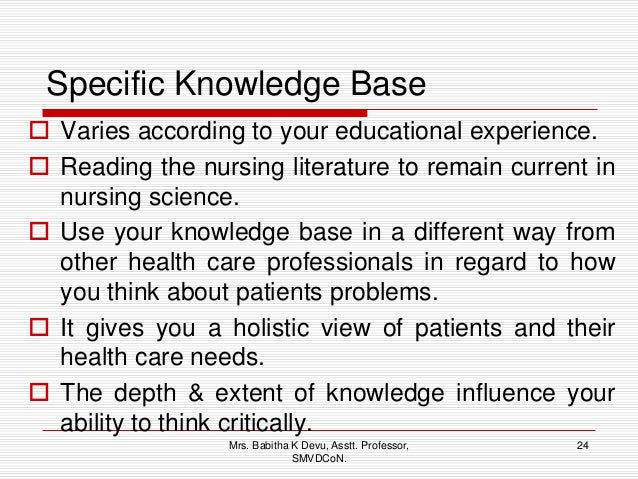 critical thinking health care professional Clinical reasoning and critical thinking  the care delivered to  improving critical thinking the 11 functional health patterns are areas that allow.