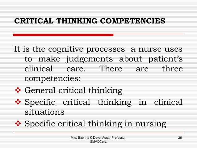 critical thinking competency definition