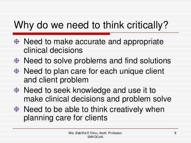 critical thinking skills test for nurses