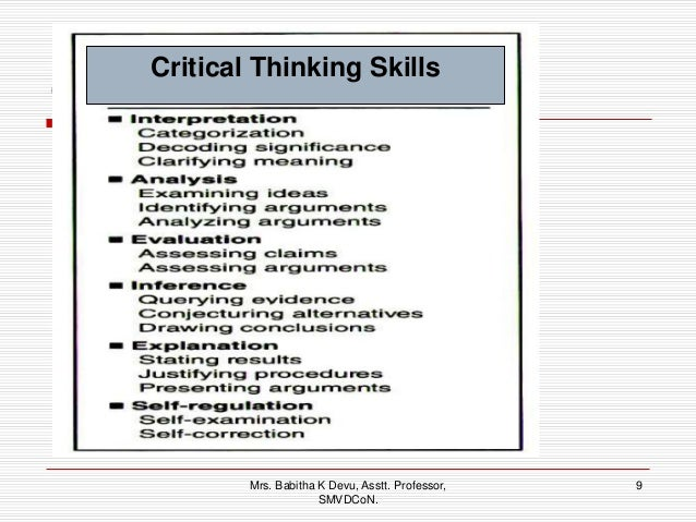 examples of critical thinking in nursing