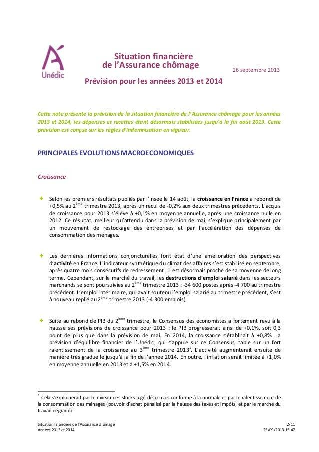 Situation financière de l'Assurance chômage 2/11 Années 2013 et 2014 25/09/2013 15:47 Situation financière de l'Assurance ...