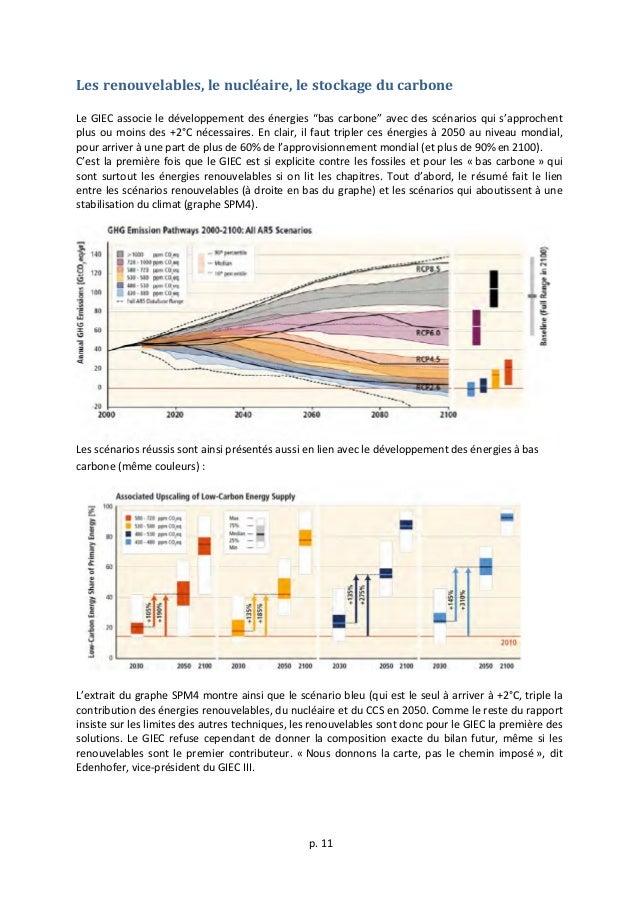 p.  11      Les  renouvelables,  le  nucléaire,  le  stockage  du  carbone      Le  GIEC ...