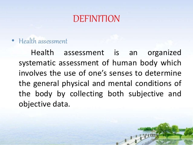 Note On Health Assessment 1