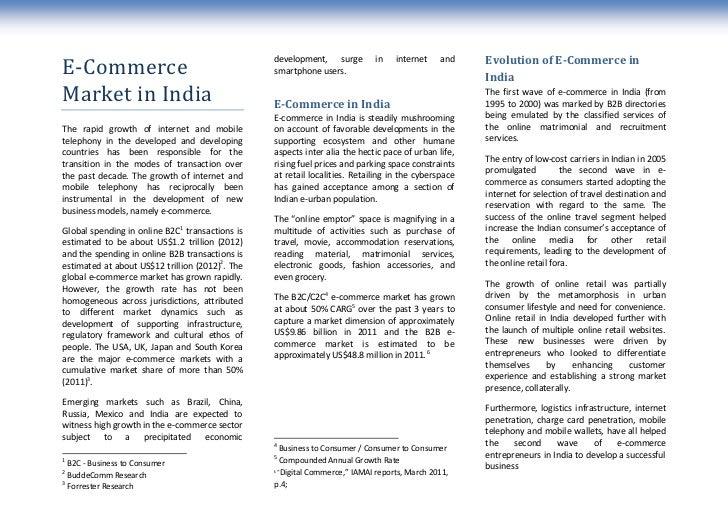 development, surge         in    internet    and    Evolution of E-Commerce inE-Commerce                                  ...