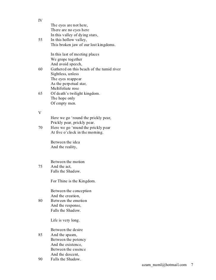 The hollow men poem
