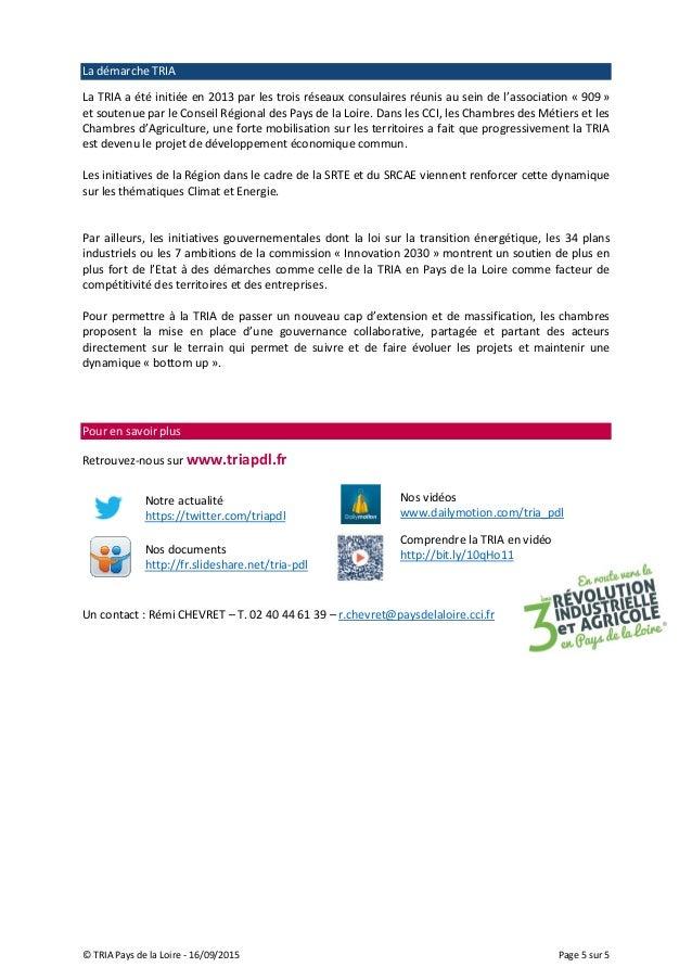 Note Position Chambres Consulaires Des Pays De La Loire Strategie R - Chambre des metiers pays de la loire