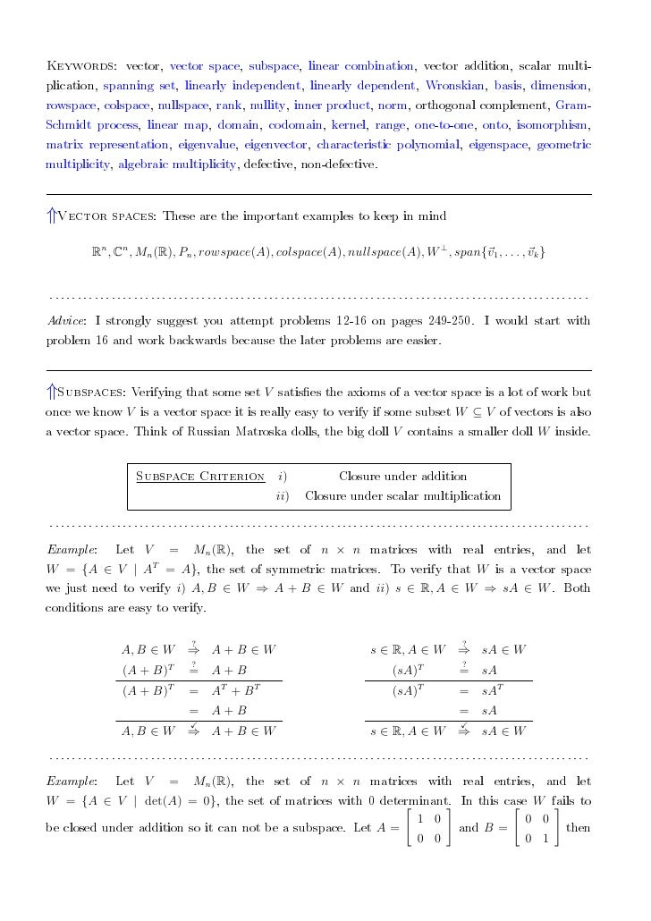linearly dependent and independent vectors examples pdf