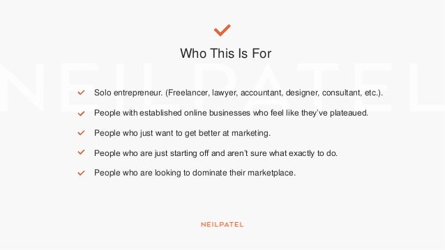 Who This Is For Solo entrepreneur. (Freelancer, lawyer, accountant, designer, consultant, etc.). People with established o...