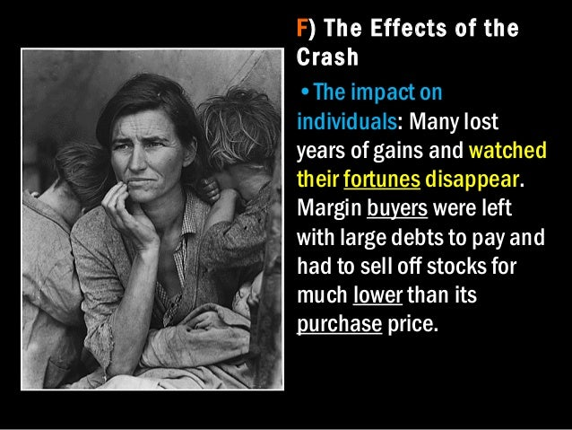 the many factors that contributed to the start of the great depression in america in 1929 The stock market crash of 1929 was a four-day collapse of stock prices that began on october 24, 1929 it was the worst decline in us history it was the worst decline in us history the dow jones industrial average dropped 25 percent.