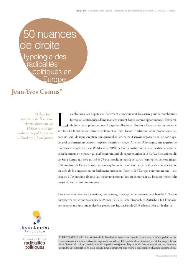 AVERTISSEMENT : La mission de la Fondation Jean-Jaurès est de faire vivre le débat public et de concourir ainsi à la rénov...