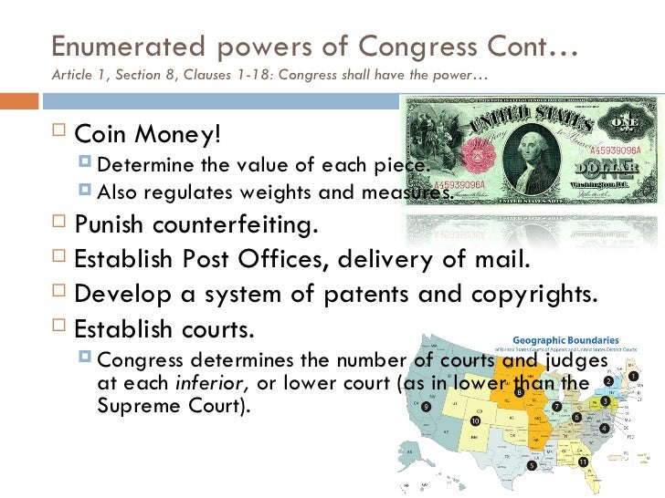congresss power to coin money is