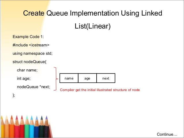 Linear Queue in C++ using Linked List