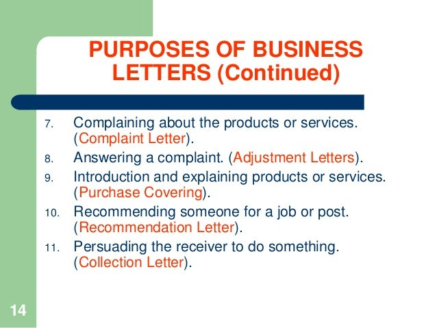 What Is The Purpose Of The Complaint Letter