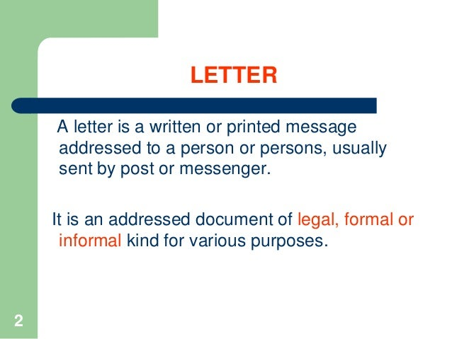 Notes How To Write Business Letters