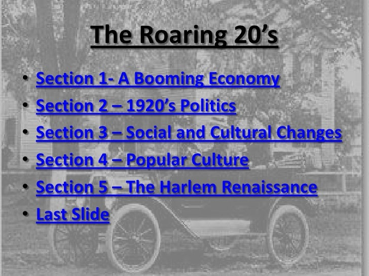roaring 20s notes 28122013  the century: america's time - 1920-1929: boom to bust john f mcdonnell loading  music of the 20s, 30s and 40s  the roaring 20's:.