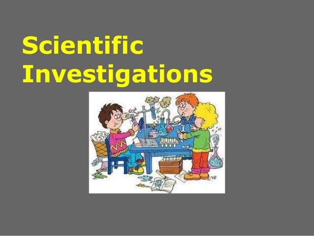 Notes scientific investigation
