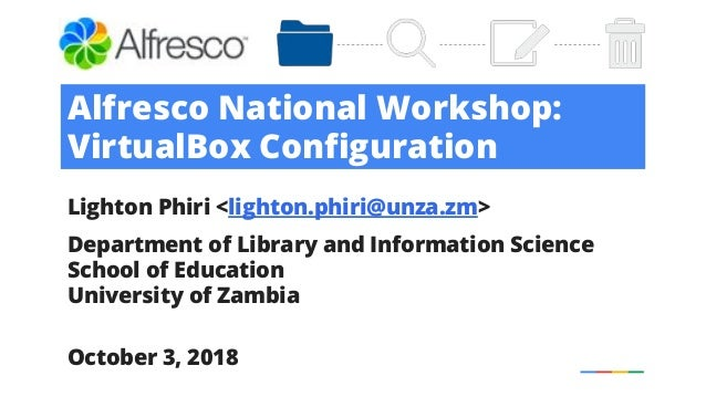 Alfresco Workshop: Installing VirtualBox and Ubuntu 17 04