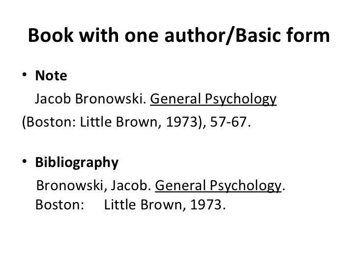 how to do a bibliography for a book