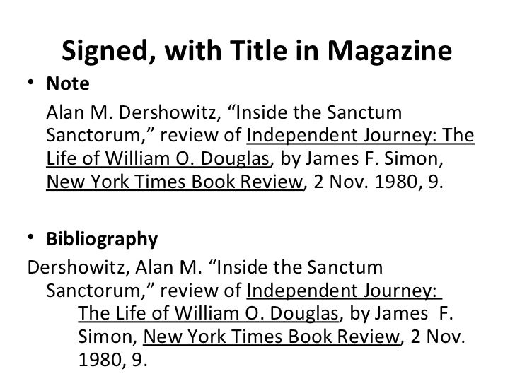 note bibliography