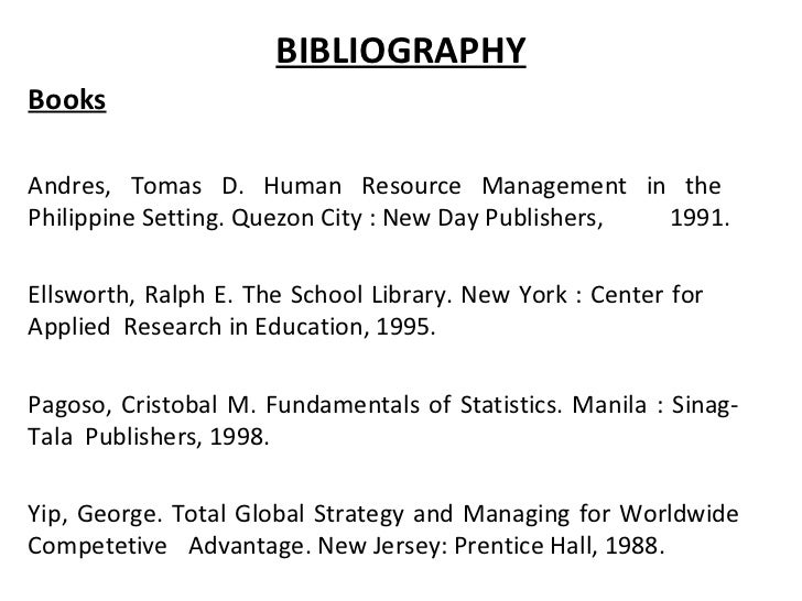 Bibliography of a book, College paper Help