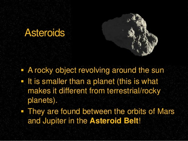 Asteroids, comets, meteors