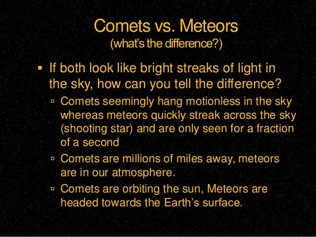 all comets asteroids and meteors together - photo #16