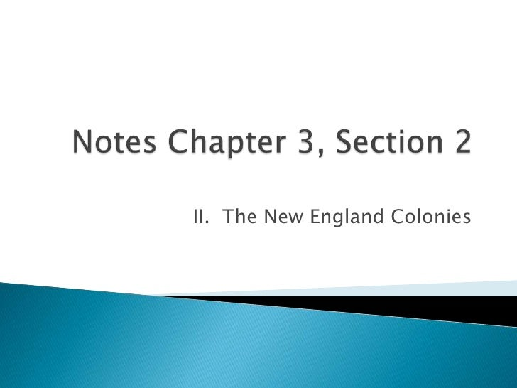 Notes Chapter 3, Section 2