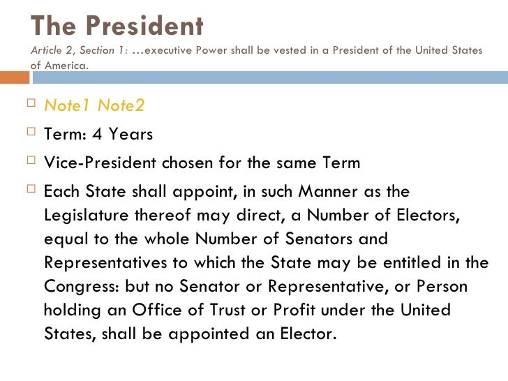 article 2 section 2 of the constitution