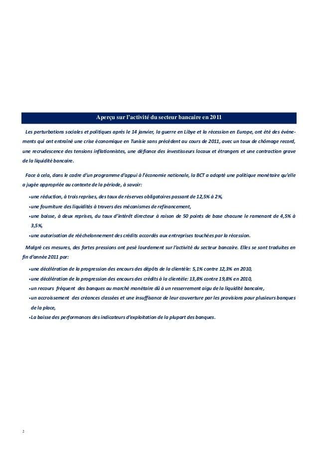 Note secteur bancaire tunisien 09 2012 - Grille de salaire secteur bancaire tunisie ...