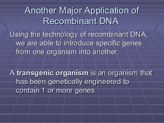understanding genetic engineering and its applications Genetic engineering its applications a genetic engineering wikipedia engineers apply their understanding of dna to manipulate specific genes to produce.