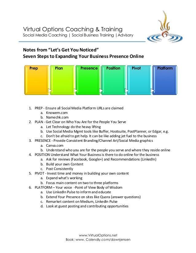 Virtual Options Coaching & Training Social Media Coaching | Social Business Training |Advisory  www.VirtualOptions.net Bo...
