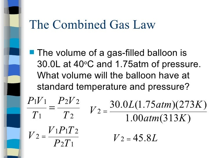 Notes gas laws