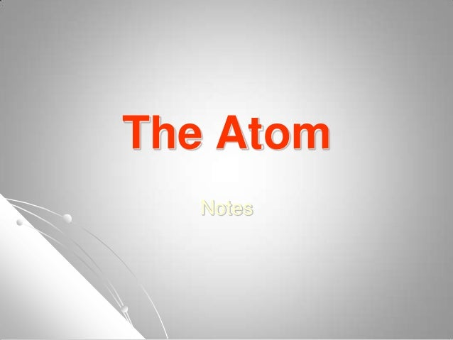 The AtomNotes