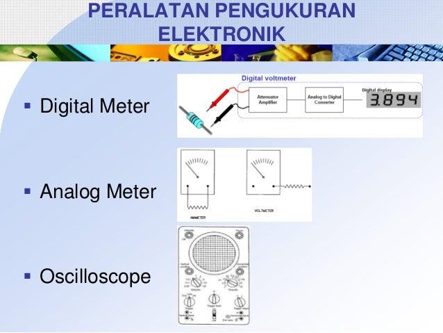 PERALATAN PENGUKURAN ELEKTRONIK   Digital Meter   Analog Meter   Oscilloscope