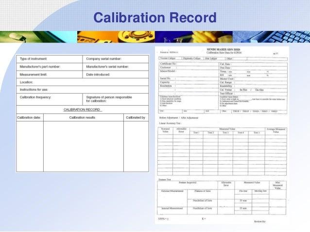 Calibration Record
