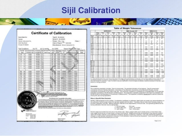 Sijil Calibration