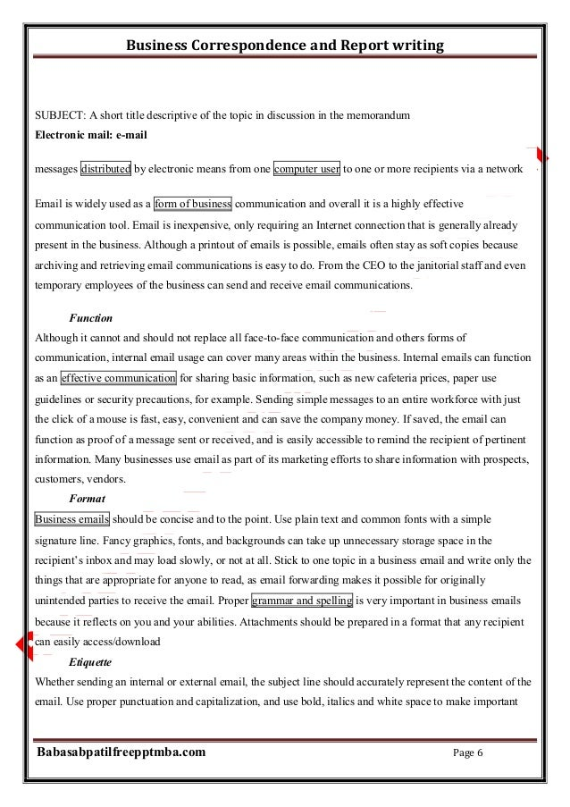 write a brief note on report writing
