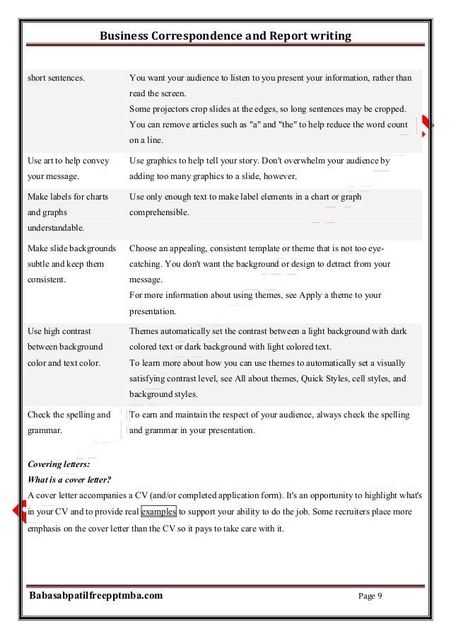 Correspondence Letter Sample Kubreforic