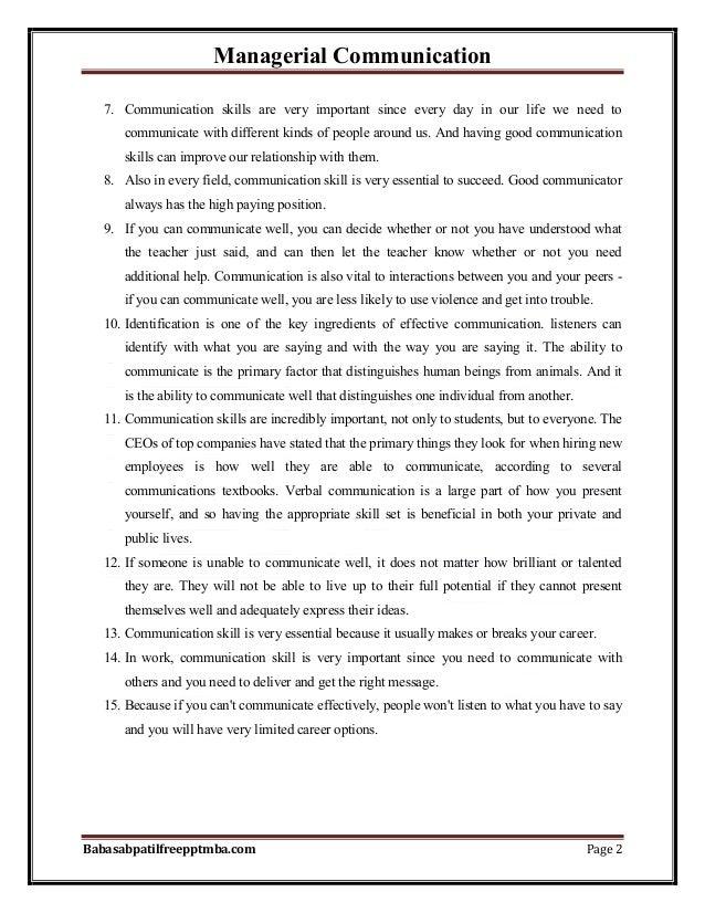 Notes managerial communication part 1  mba 1st sem by babasab patil (karrisatte) Slide 2