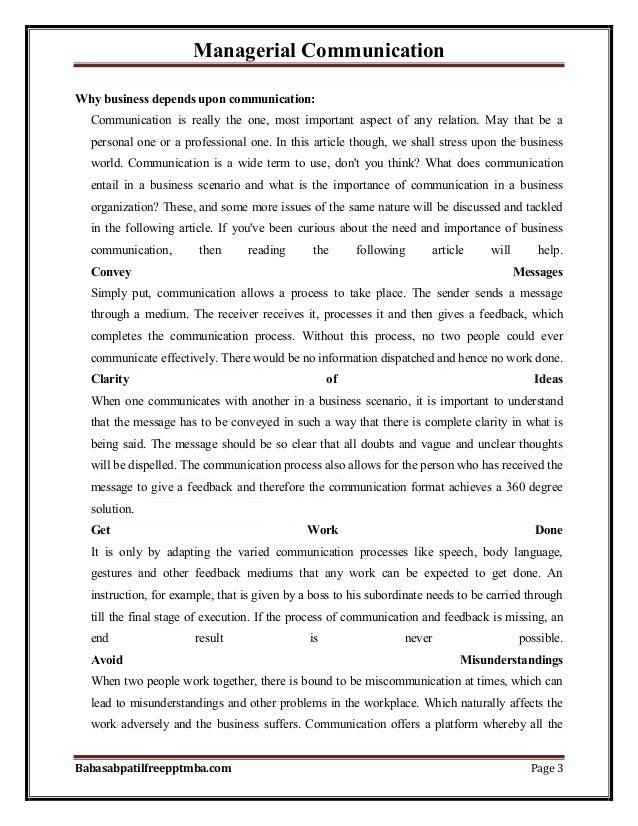 Notes managerial communication part 1  mba 1st sem by babasab patil (karrisatte) Slide 3