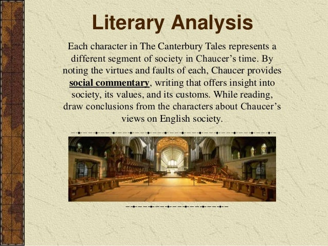 an overview of the geoffrey chaucers social commentary in the novel the canterbury tales O scribd é o maior site social de leitura e  cataloging-in-publication data geoffrey chaucer's the canterbury tales /  inspired commentary.