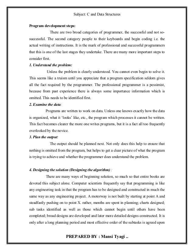 Notes of c programming 1st unit BCA I SEM