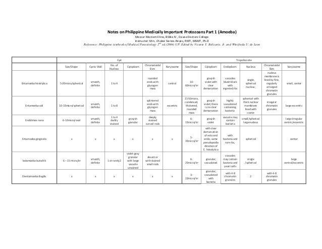 Notes on Philippine Medically Important Protozoans Part 1 (Amoeba)                                                        ...