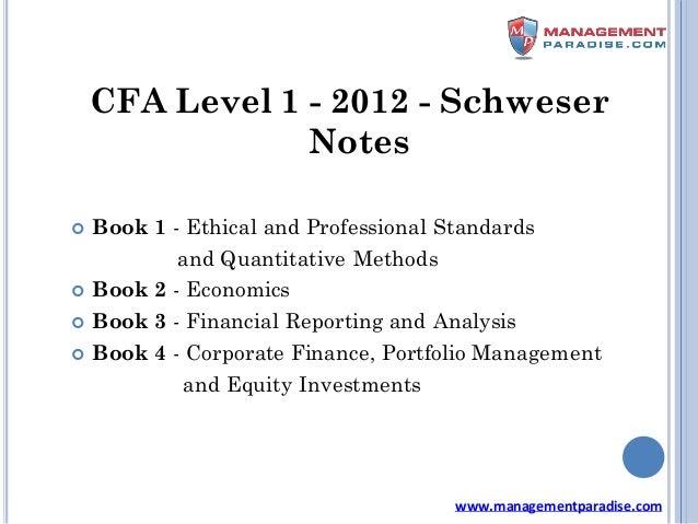 Schweser Notes Cfa Level 1 Pdf