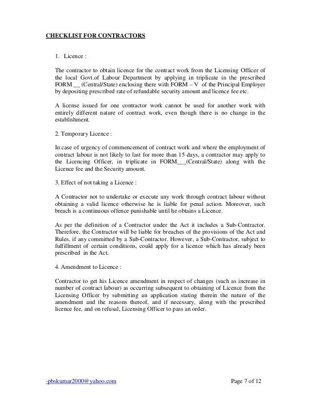 Contract Labour Act 1970 Pdf