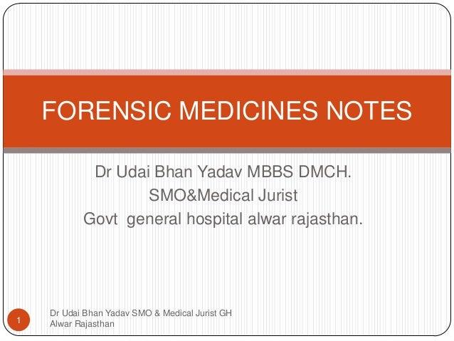Dr Udai Bhan Yadav MBBS DMCH. SMO&Medical Jurist Govt general hospital alwar rajasthan. Dr Udai Bhan Yadav SMO & Medical J...