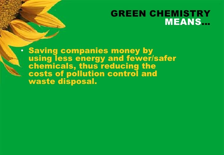 Notes On Green Chemistry