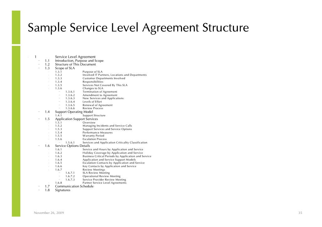 writing a service level agreement Service level agreement - sample #1 this sample is a short form contract used to both document the sla and report monthly on its status one of these is produced for each service provided between it department and service level agreements.