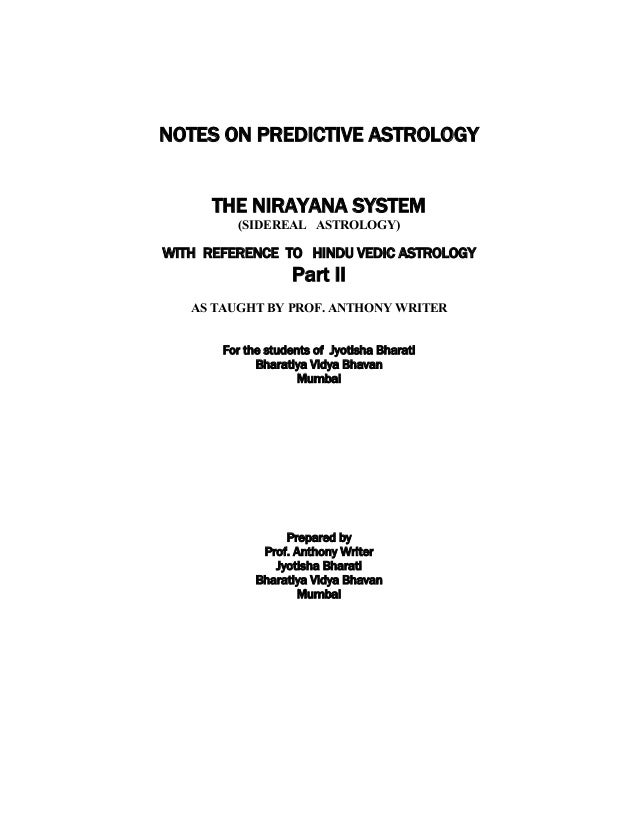 Notes on predictive astrology part ii 28062012