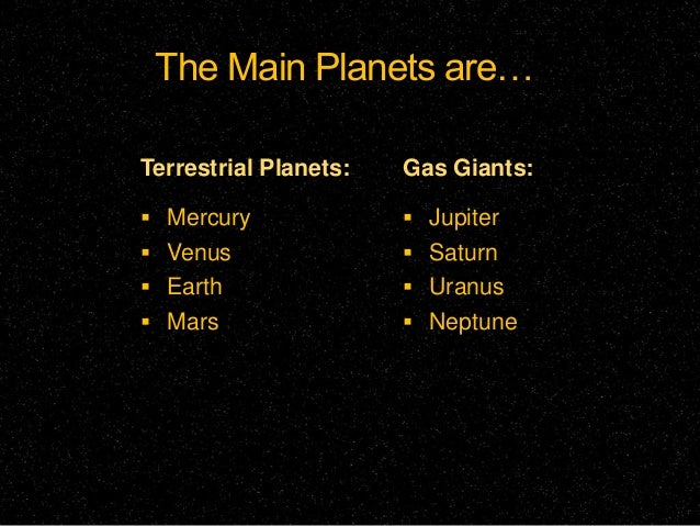 is earth a terrestrial or gas giant - photo #31